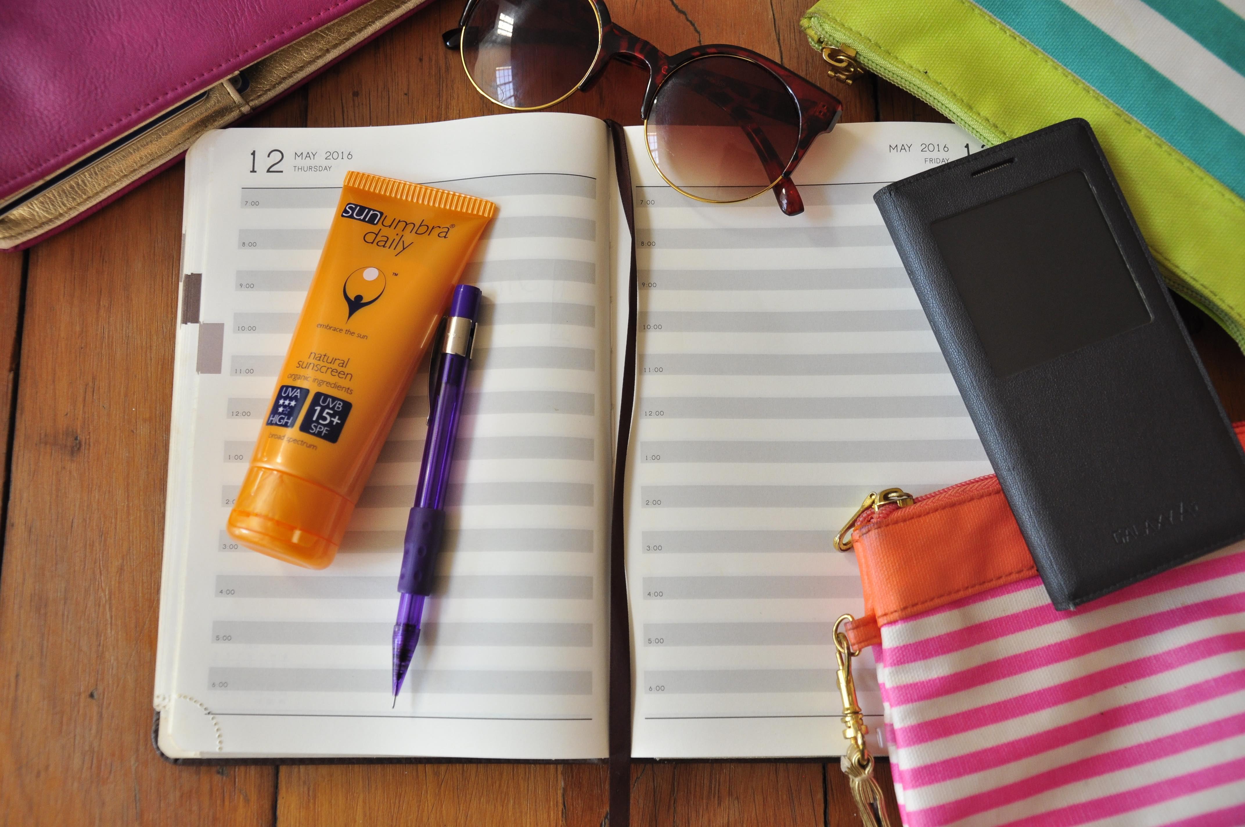 SPF 15 sunscreen