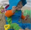 Infant on beach