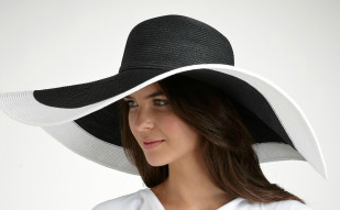 Goth style sun protective hat