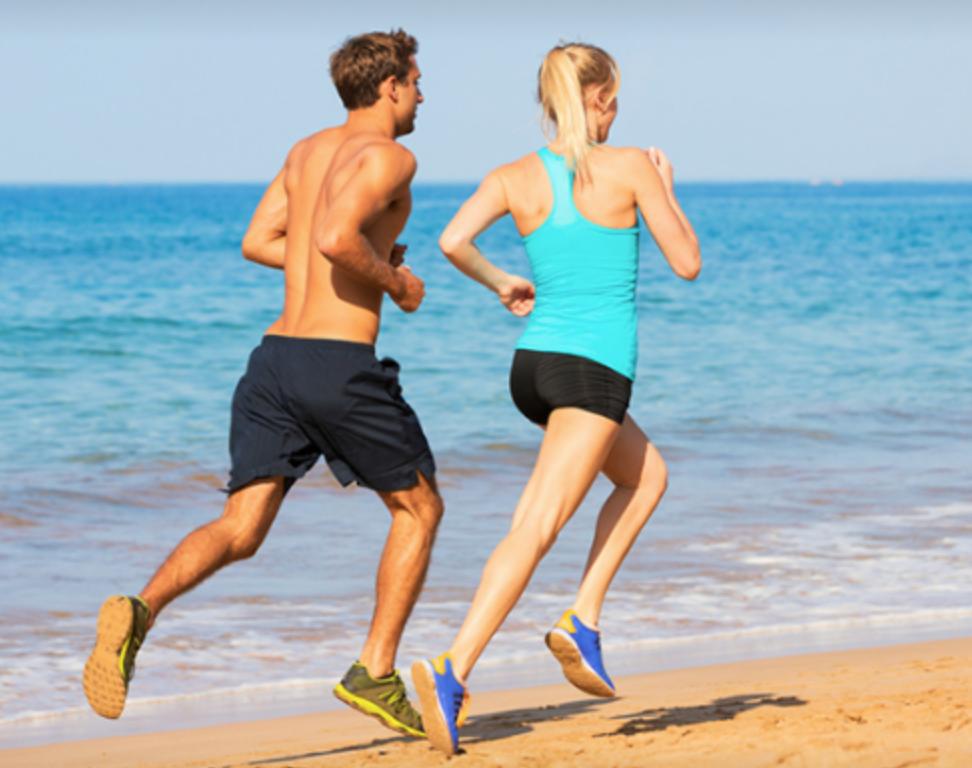 Vitamin D while Running on beach