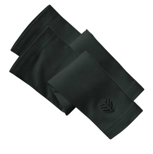 Black sun protection gloves