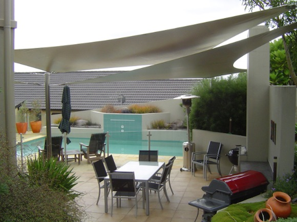 Private residence sun shade