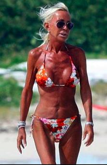 skin aged by sun
