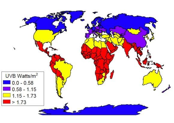 UVB map