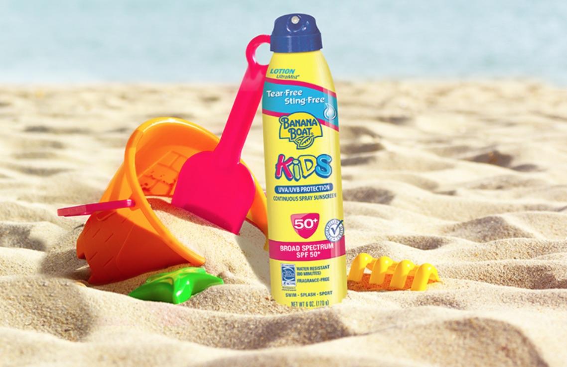 banana boat kids sunscreen