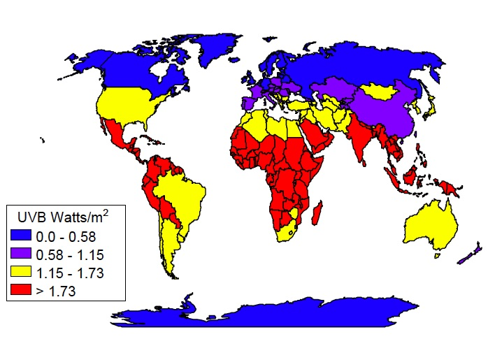 UV radiation across the globe