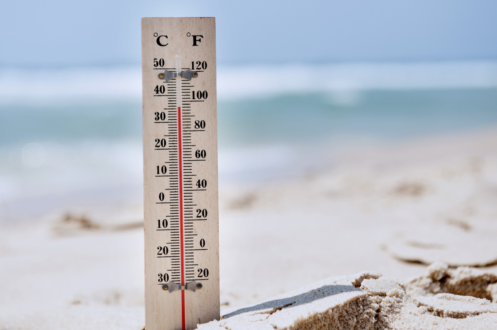 Too much heat at the beach promotes sunstroke